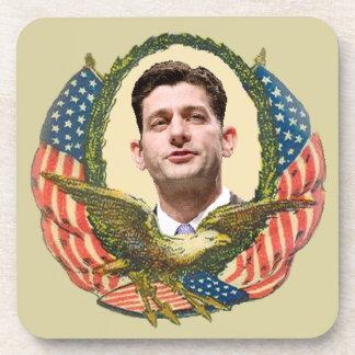 Romney Ryan retro Posavasos