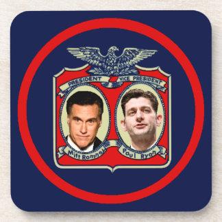 Romney Ryan retro Posavasos De Bebida