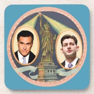 Romney Ryan retro Posavasos De Bebidas