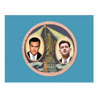 Romney Ryan retro Postales