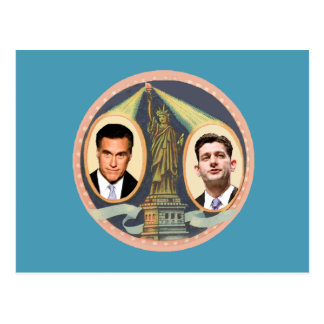 Romney Ryan Retro Post Card