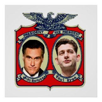 Romney Ryan Retro Poster