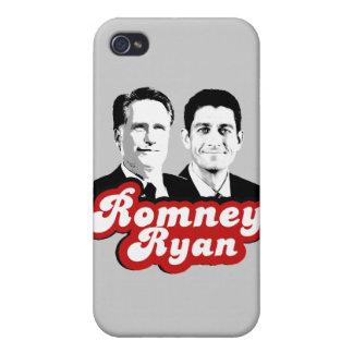 ROMNEY RYAN RETRO RED iPhone 4/4S CASE