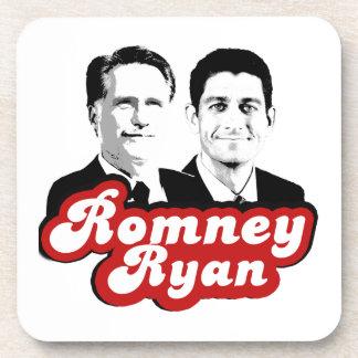 ROMNEY RYAN RETRO RED png Coaster