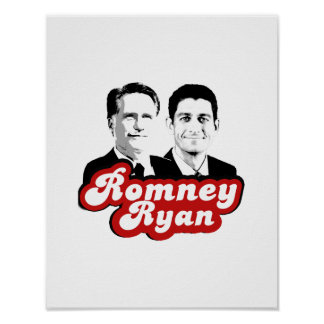 ROMNEY RYAN RETRO RED.png Poster