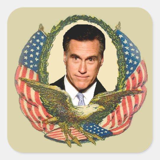 Romney Ryan Retro Square Sticker