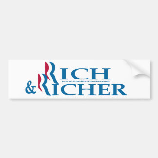 Romney Ryan Rich and Richer Car Bumper Sticker