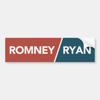 Romney Ryan rojo, pegatina para el parachoques bla Pegatina De Parachoque