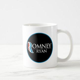 Romney Ryan Round (Black) Coffee Mug