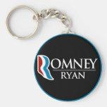 Romney Ryan Round (Black) Keychain