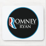 Romney Ryan Round (Black) Mouse Pad