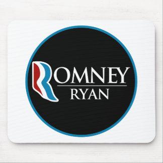 Romney Ryan Round (Black) Mousepad