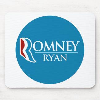Romney Ryan Round (Light Blue) Mousepad