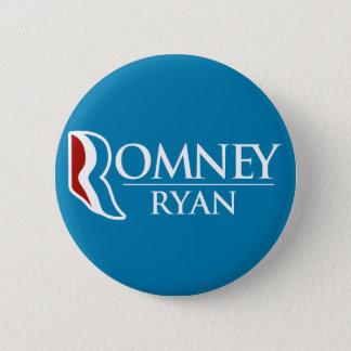 Romney Ryan Round (Light Blue) Pinback Button