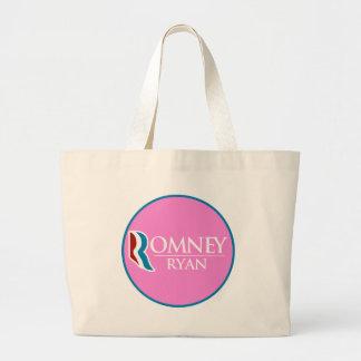 Romney Ryan Round (Pink) Tote Bags