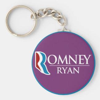 Romney Ryan Round (Purple) Basic Round Button Keychain