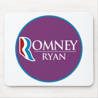Romney Ryan Round (Purple) Mouse Pads