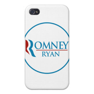 Romney Ryan Round (White) Case For iPhone 4