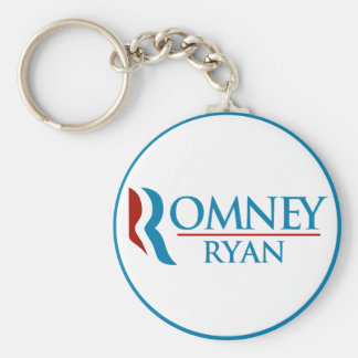 Romney Ryan Round (White) Keychain