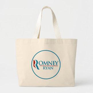Romney Ryan Round (White) Large Tote Bag