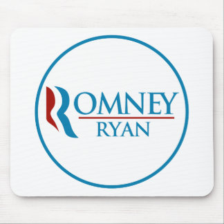 Romney Ryan Round (White) Mouse Pad