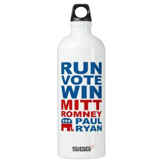 Romney Ryan Run Vote Win Aluminum Water Bottle