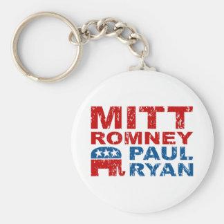 Romney Ryan Run Vote Win Basic Round Button Keychain
