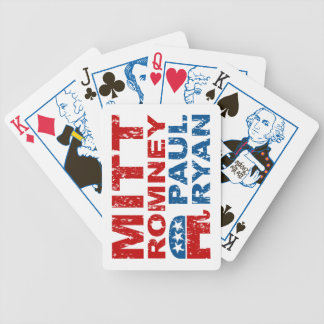 Romney Ryan Run Vote Win Bicycle Playing Cards