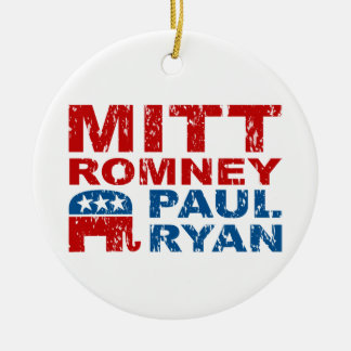 Romney Ryan Run Vote Win Ceramic Ornament