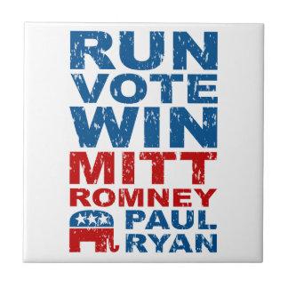 Romney Ryan Run Vote Win Ceramic Tile