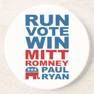 Romney Ryan Run Vote Win Drink Coasters
