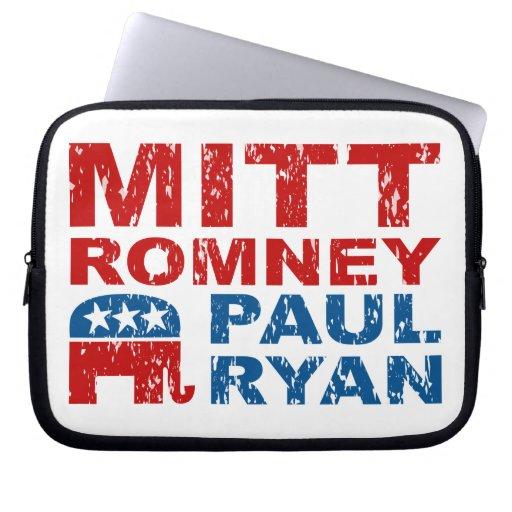 Romney Ryan Run Vote Win Computer Sleeve