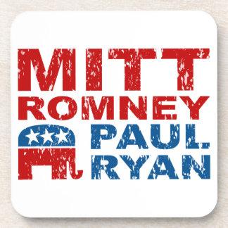 Romney Ryan Run Vote Win Drink Coaster