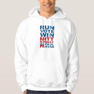 Romney Ryan Run Vote Win Hoodie