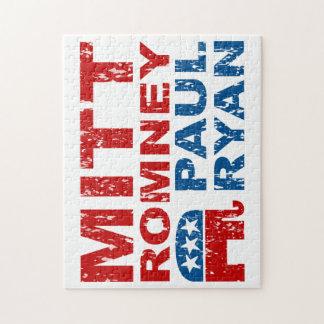 Romney Ryan Run Vote Win Jigsaw Puzzle