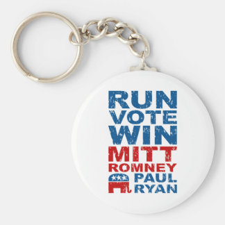 Romney Ryan Run Vote Win Keychain