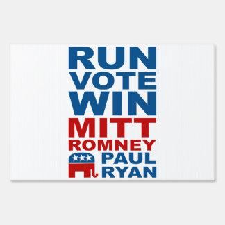 Romney Ryan Run Vote Win Lawn Sign