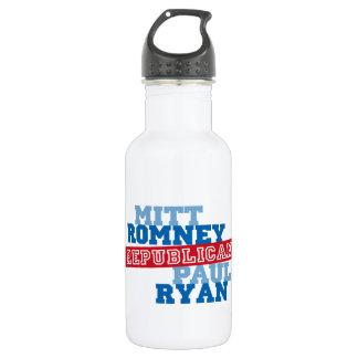 Romney Ryan Run Vote Win Stainless Steel Water Bottle