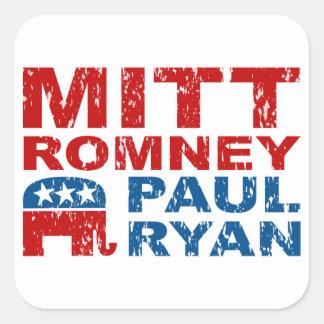 Romney Ryan Run Vote Win Square Sticker