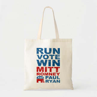 Romney Ryan Run Vote Win Tote Bag