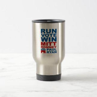 Romney Ryan Run Vote Win Travel Mug