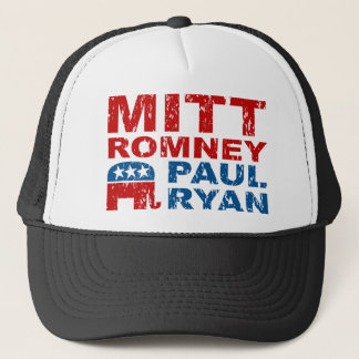 Romney Ryan Run Vote Win Trucker Hat