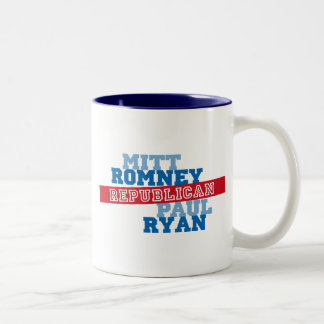 Romney Ryan Run Vote Win Two-Tone Coffee Mug