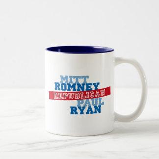 Romney Ryan Run Vote Win Two-Tone Coffee Mug
