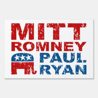 Romney Ryan Run Vote Win Lawn Signs