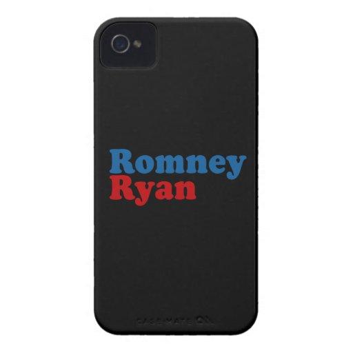 ROMNEY RYAN SIMPLE.png iPhone 4 Case-Mate Carcasas