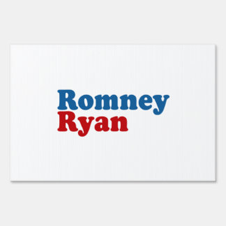 ROMNEY RYAN SIMPLE LAWN SIGN