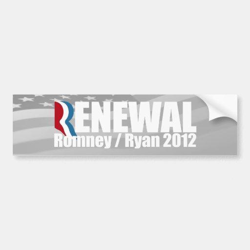 ROMNEY RYAN SON LA RENOVACIÓN - .PNG PEGATINA DE PARACHOQUE
