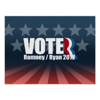 ROMNEY RYAN SON LOS VOTANTES - .PNG POSTERS