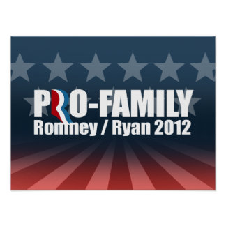 ROMNEY RYAN SON PRO-FAMILY - .PNG POSTERS